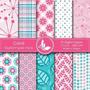 Kit Imprimible Pack Fondos Flores 23 Clipart