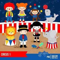 Kit Imprimible Circo Payasos 2 Imagenes Clipart