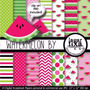 Kit Imprimible Pack Fondos Sandia Clipart