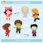 Kit Imprimible Invierno Frio 6 Imagenes Clipart