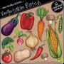 Kit Imprimible Frutas Y Verduras 3 Imagenes Clipart