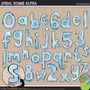 Kit Imprimible Numeros Y Letras Celeste Imagenes Clipart