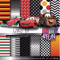 Kit Imprimible Pack Fondos Cars Clipart