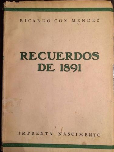 recuerdos de 1891, ricardo cox mendez