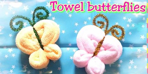 recuerdos de toallas,mariposa ,cumpleaños,baby showe,bautizo