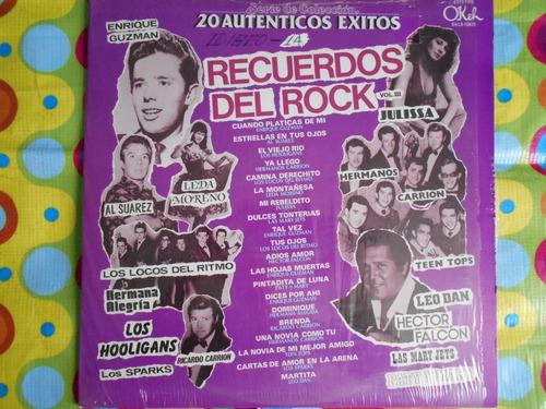 recuerdos del rock vol.3 lp 20 autenticos exitos