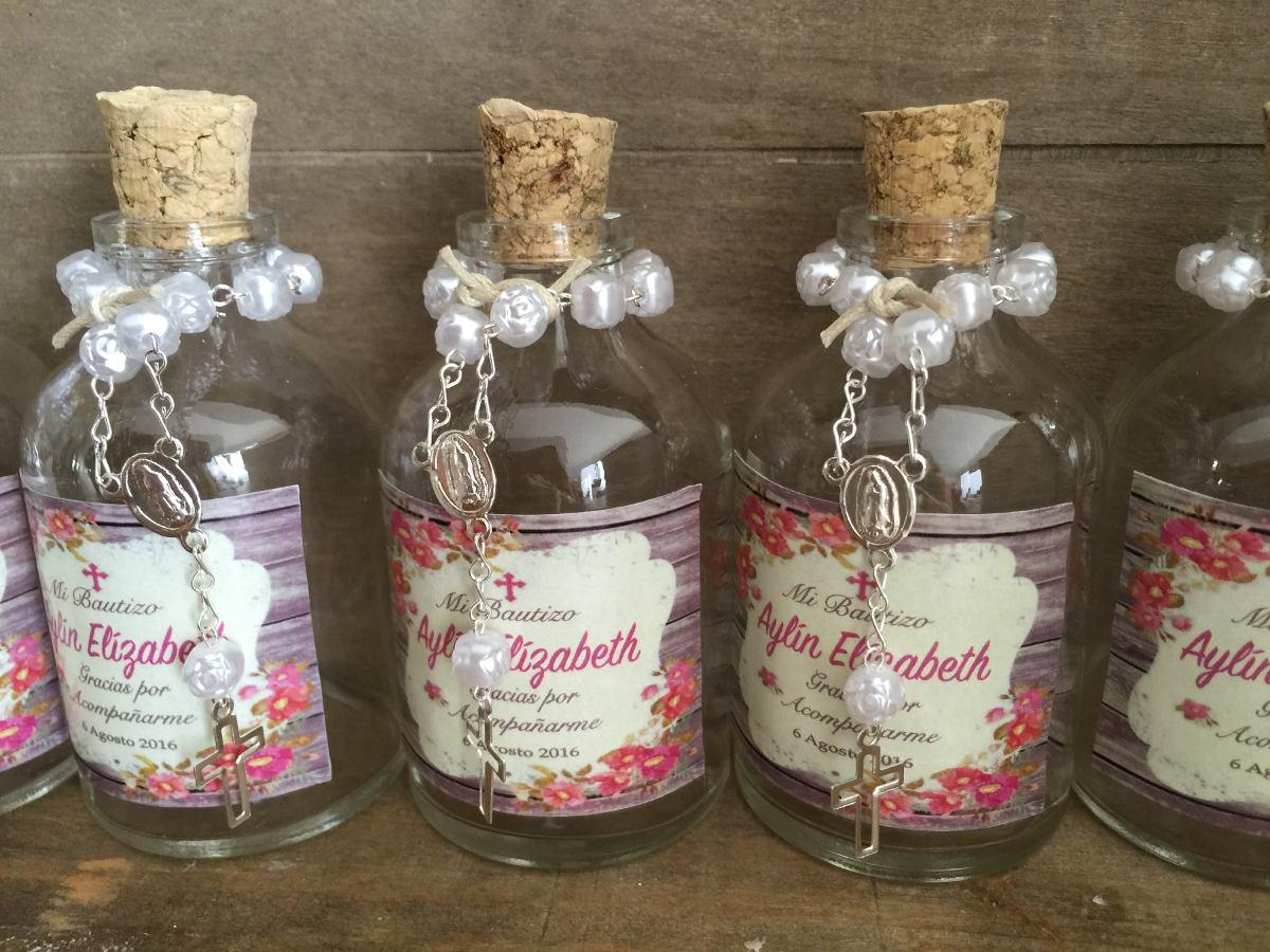 Recuerdos Para Matrimonio Rustico : Recuerdos frascos agua bendita bautizo comunión