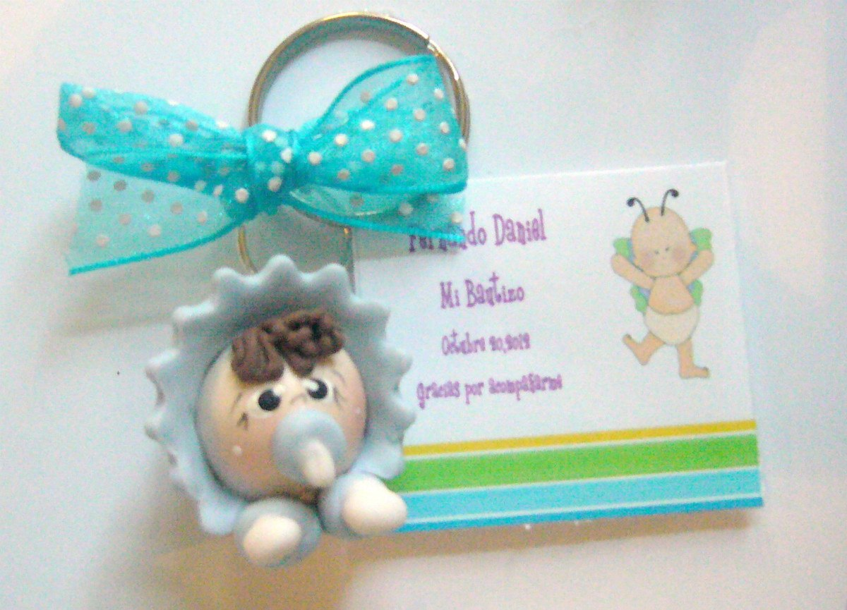 Recuerdos Para Bautizo Con Foto Del Bebe.Recuerdos Llaveros Bebes Pasta Francesa Flexible Bautizo
