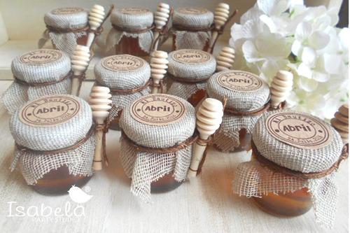 recuerdos para  baby shower bautizo miel abejita abeja