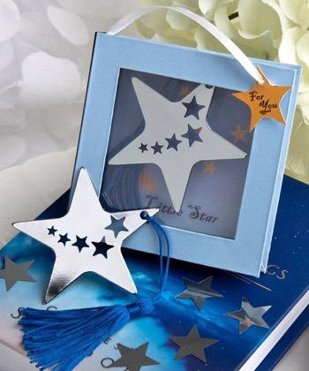 recuerdos para baby shower bautizo - separadores de estrella