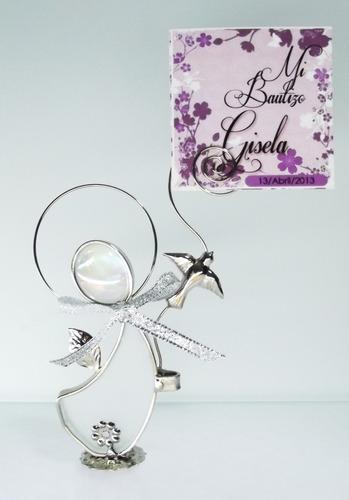 recuerdos para bautizo, boda.angelitos vitral 100% calidad