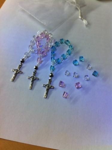 recuerdos para bautizo denarios de piedras de vidrio x 12
