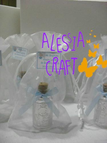 recuerdos primera comunion: botellitas para agua bendita: