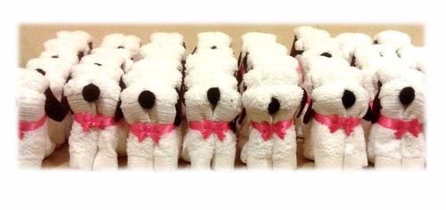 recuerdos,perritos de toallas,cumpleaños,babyshower,bodas