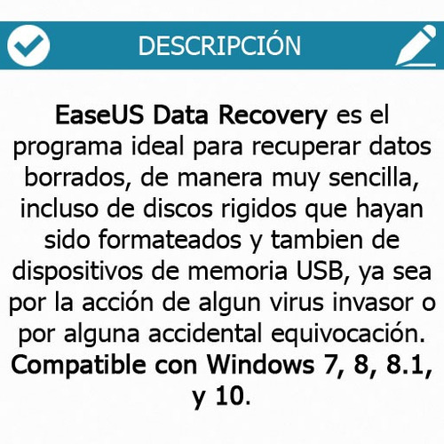 recupera archivos borrados - easeus data recovery wizard v11