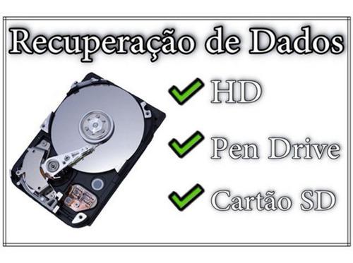 recuperação de dados pen driver cartão hd mesmo formatado