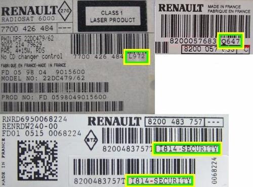 recuperação do codigo (code) aparelho renault media nav