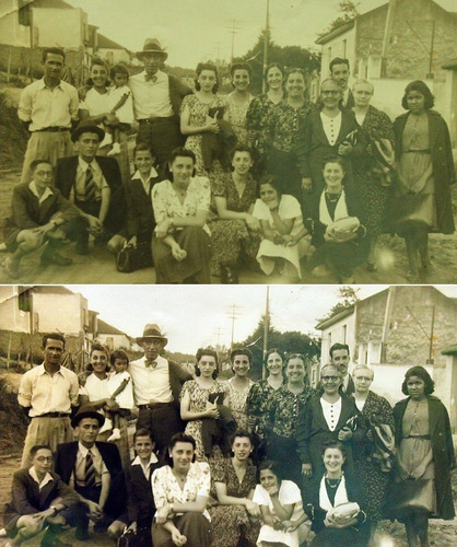 recuperação e coloração de imagens antigas
