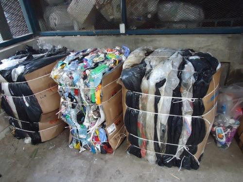 recuperadora plastico recicladora bolsas soplado pp pe