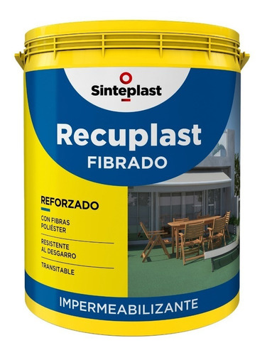 recuplast fibrado sinteplast blanco rojo x 4lts antigoteras