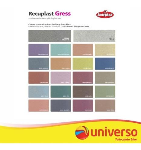 recuplast gress | revestimiento texturado | 2 colores 20kg
