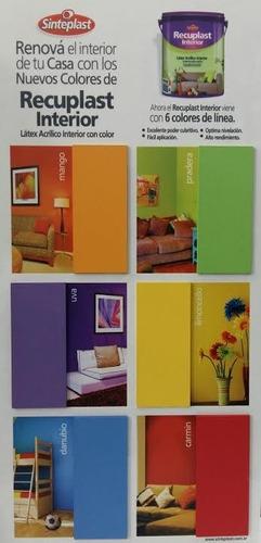 recuplast interior pintura latex colores x 4 lts sinteplast