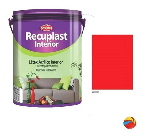 recuplast interior pintura latex lavable colores x 4 lts un