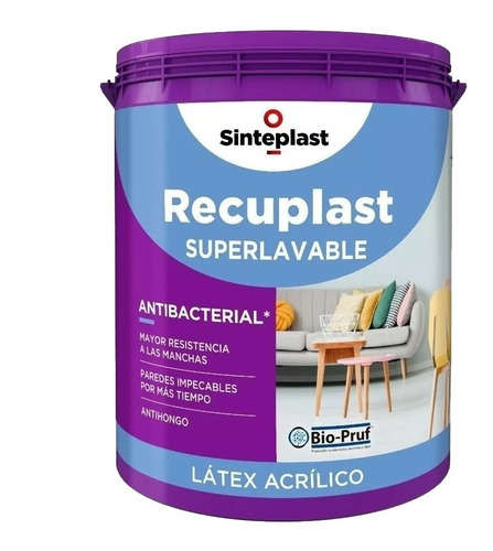 recuplast interior superlavable 20 l antibacteria sinteplast