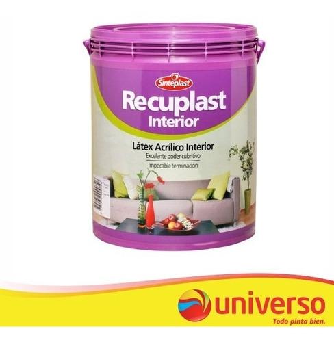 recuplast látex interior pintura blanco x 10 lts sinteplast
