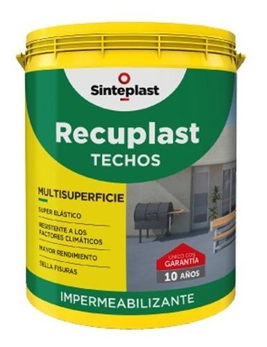recuplast techos blanco x20 lts  impermeabilizate sinteplast