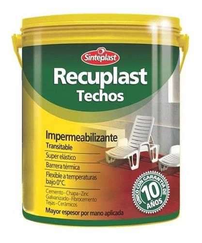 recuplast techos impermeabilizante garantia 4lts pintumm