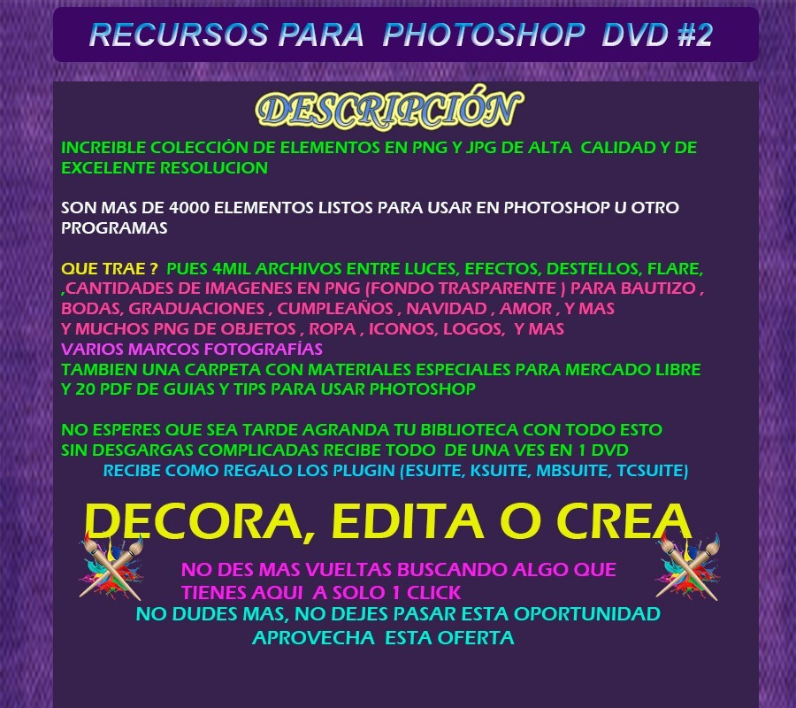 Recursos Para Photoshop Pack2 Descargables Luces Efectos Png Bs