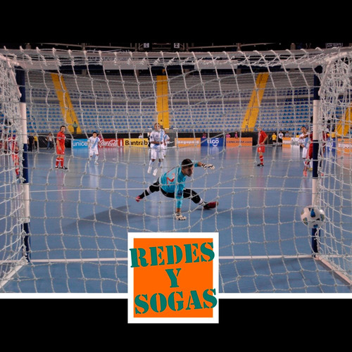 red arco papi futbol salon futsal chico 3x2m trapezoidal 3mm
