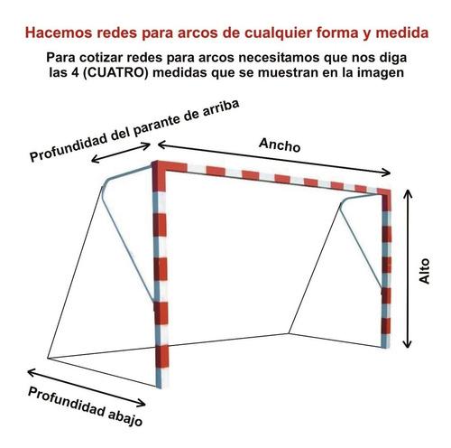 red arco redes arcos de futbol a medida especial no estandar - entrega inmediata. resiste intemperie