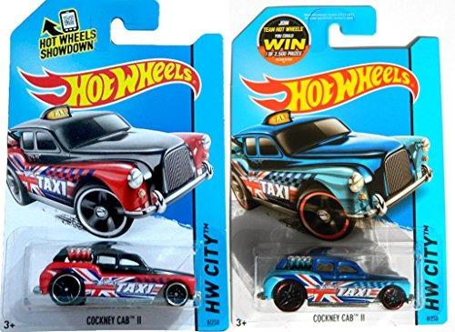 Red Blue Cockney Cab Ii Taxi Juego Hot Wheels City 23 990