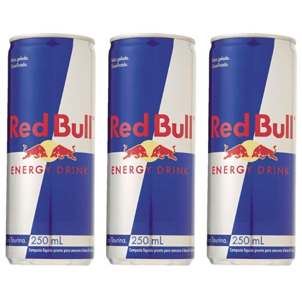 de3b55075a7f5 red bull energético lata regular 250ml (kit c 03). Carregando zoom.