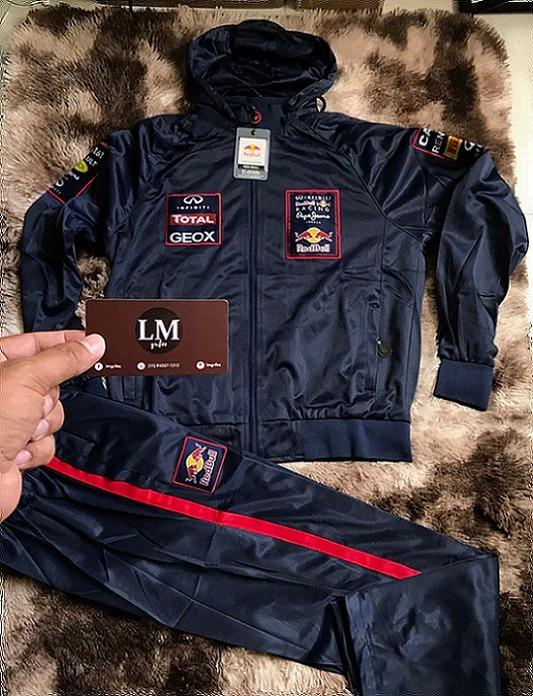 Red Bull Racing Conjunto Calca E Blusa Azul Marinho - R  199 55eaa7457aa