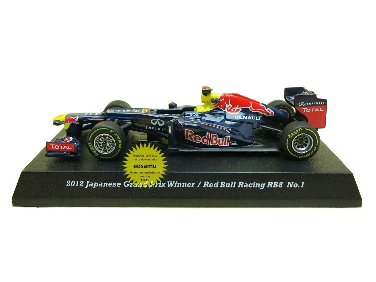 1eb92cd78103a red bull racing rbr rb8 vettel formula 1 2012 kyosho 1 64. Carregando zoom.