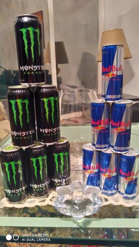 red bull y monster