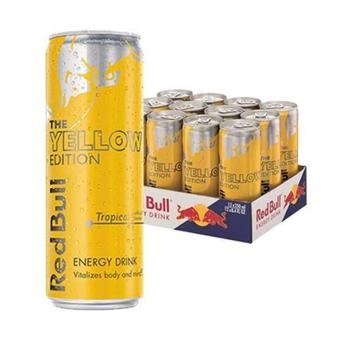 red bull yellow ed. bebida energetica 12 pack