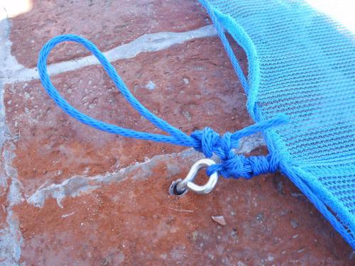 red cubre piletas - red de seguridad - reforzadas con sogas