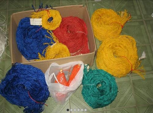 red de polietileno varios colores.