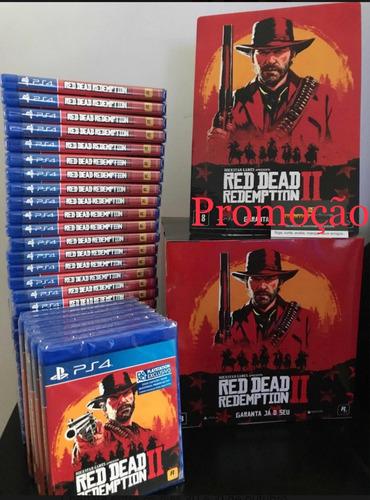 red dead redemptin 2 ps4 incluso mapa mídia física