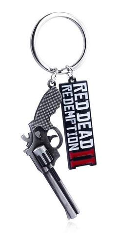 red dead redemption 2 ii dije llavero revolver metálico rdr2