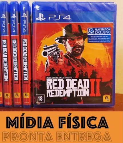 red dead redemption 2 mídia física - ps4