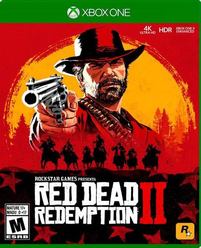 red dead redemption 2 xbox one español nuevo en 2 discos