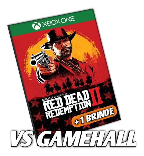 red dead redemption 2 xbox one midia digital + brinde