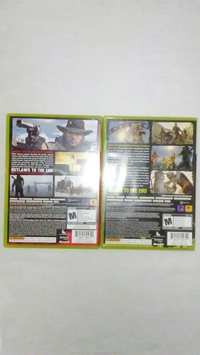 red dead redemption e undead nightmare xbox 360 originais