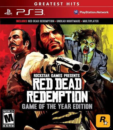 red dead redemption goty ps3 original en disco bravil