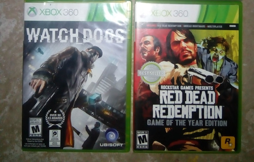 red dead redemption goty y watch dogs xbox 360